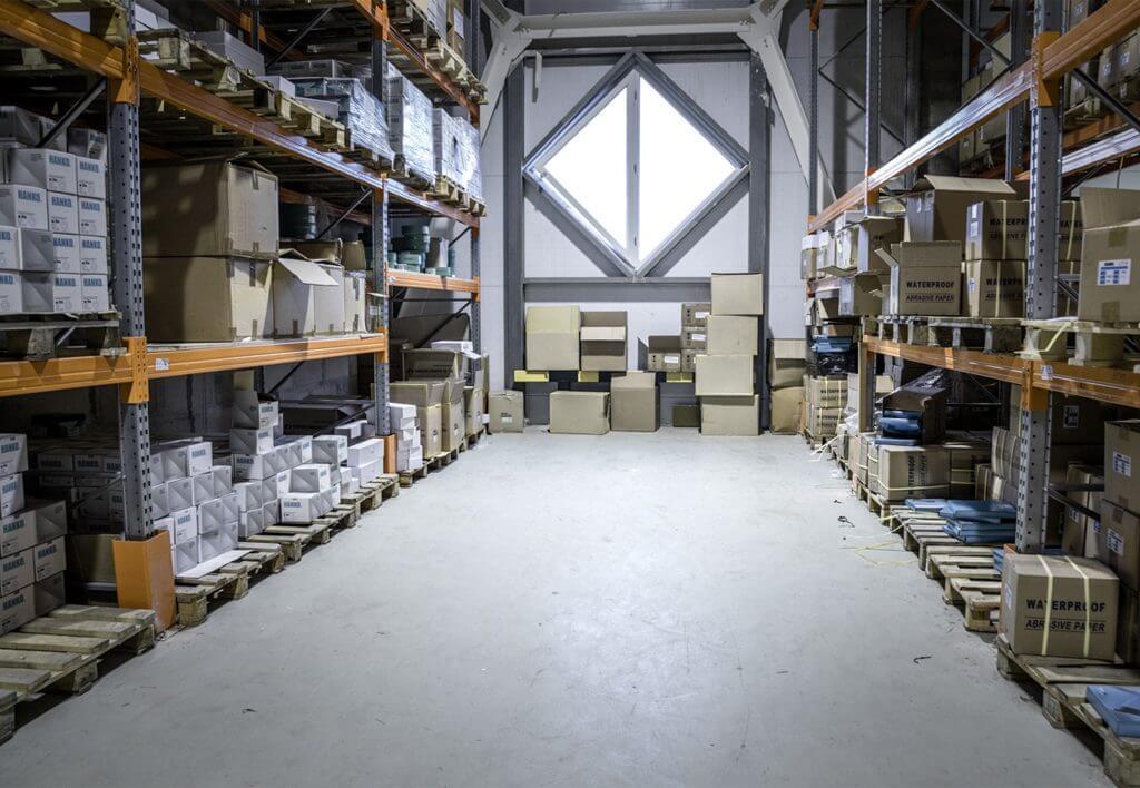 складское помещение компании Hanko